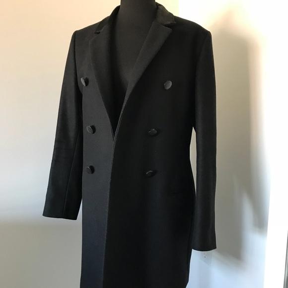 24fa9e921f The Kooples Double Breasted Wool Coat w/ Fur. M_5b7462f11e2d2de9382e6f0b